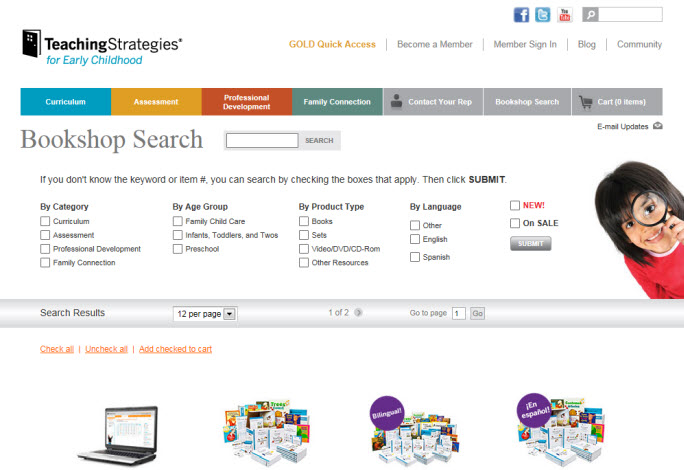 Teaching Strategies online book store