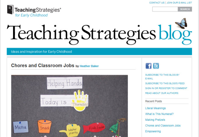 Teaching Strategies blog