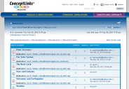 Bulletin page is sortable and offers easy access to user preferences, FAQs and member information.