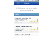 INQUIREhealthcare Mobile App Search Results