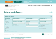 IBS Education and Events Search